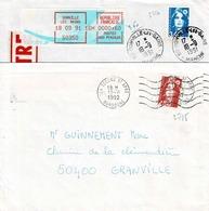 TP N ° 2715 Et 2716 Seuls Sur Enveloppes De Donville Et St Apre - Postmark Collection (Covers)