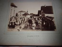 """RARE LOT DE 2  PHOTOS  1888 Switzerland SUISSE """" BE BERNE ARTH CIMETIERE /  SZ Schwyz LA RIVIERE A BRUNNEN - Photos"""