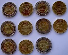 EGITTO EGYPT SERIE 13 MONETE 6 DA 1 POUND E 5 DA 50 PIASTRE 2019 NEW COUNTRY FDC - Egitto