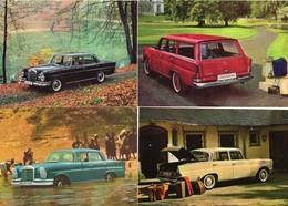 MERCEDES-BENZ  220/230 HECKFLOSSE   -  Lot De 4 Voitures/Automobiles  -  4 X Cartes Postales Modern - 4xCPM - Voitures De Tourisme
