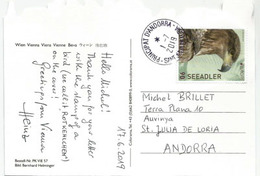 AUTRICHE. EUROPA 2019 Aigle De Mer. , Sur Carte Postale Chateau Schönbrunn. WIEN.,adressée Andorra,avec Timbre à Date - 2019