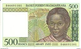 MADAGASCAR  500 FRANCS ND1994 UNC P 75 - Madagascar