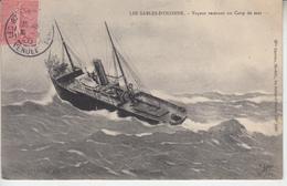 LES SABLES D'OLONNE - Vapeur Recevant Un Coup De Mer ( Navigation Bateau ) PRIX FIXE - Sables D'Olonne