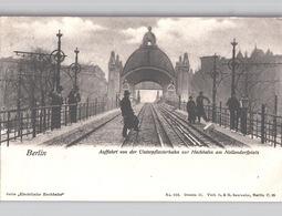 Berlin H-Bahn Serie Elektrische Hochbahn Auffahrt Von Unterpflasterbahn Zu Bahn Nolledorferplatz Verlag Saulsohn Um 1904 - Deutschland