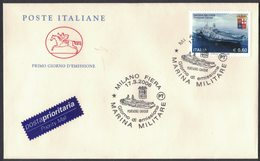 "X32    Italy - 2006  Marina Militare  Portaerei ""Cavour"" Italian Navy Aircraft Carrier - Militaria"