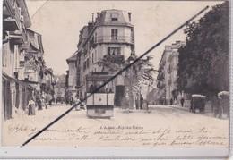 Aix Les Bains (73) Un Coin De La Ville à Situer (tramway En Premier Plan)carte Précurseur De 1904) - Aix Les Bains