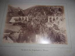 RARE LOT DE 2  PHOTOS  1888 Switzerland SUISSE  BE Berne WASEN LES PONTS DU ST GOTHARD VALLEE DE LA REUSS - Oud (voor 1900)