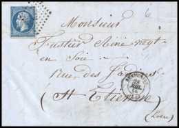 7011 LAC 1859 N 14 Napoleon 20c Pc 302 Beaucaire Gard St Etienne Loire France Lettre Cover - 1849-1876: Période Classique