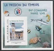 Année 2018 - Feuillet Souvenir De La FFAP - N°14 - 91ème Congrès - La Maison Des Océans - Paris 2018 - FFAP
