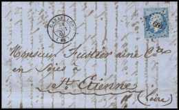 7017 LAC Entete Cheylan 1862 N 14B Napoleon 20c TB Pc 660 Cavaillon Vaucluse St Etienne Loire France Lettre Cover - 1849-1876: Période Classique