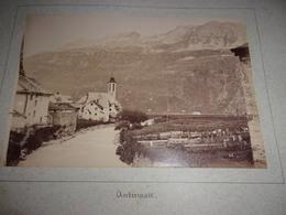 RARE LOT DE 2  PHOTOS  1888 Switzerland SUISSE   UR Uri Andermatt  VUE DU VILLAGE ET VUE DE L OBERALP - Antiche (ante 1900)
