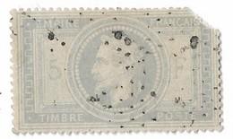 N 33 Napoleon Lauré 5 F Gris Oblitéré Petit Point Coin Coupé Etat Voir Scan - 1863-1870 Napoléon III Lauré