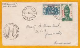 1940 - Enveloppe De Yokadouma, Cameroun Vers Yaoundé - Affrt 1 F - 2 Timbres Surchargés Cameroun Français - Cameroun (1915-1959)