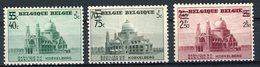 """BELGIQUE 1938. N° 481 à 483 ** (MNH) Timbres De 1938 """"basilique De Koekelberg"""" Surchargés. Cote 18€ - Belgien"""