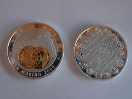 96Lb  Grande Médaille Monnaie Jeton San Marino 2004 état FDC - San Marino