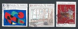 FRANCIA 1974 (O) USADO  YT-1811+1812+1813 ARPHILA 75 PARIS - Francia