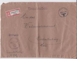 German Feldpost WW2: Registered From 3. Kompanie Bau Bataillon 416 FP 41802 To Wehrmeldeamt In - Militaria