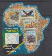 S664. Sierra Leone - MNH - 2016 - Fauna - Wild Animals - Parks Selous - Timbres