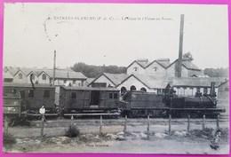 Cpa Estrée Chemin De Fer Industriel Train Gare Et Usine Au Sucre Carte Postale 62 Pas De Calais Rare Estrées Blanche - France