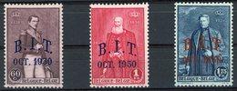 BELGIQUE 1930. N°305 à 307 * (MH).  Réunion Du Bureau International Du Travail (B.I.T) à Bruxelles. Cote 33.5€ - Unused Stamps