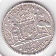Australie, 1 Florin 1943 Melbourne, George VI, En Argent, KM# 40 - Vordezimale Münzen (1910-1965)