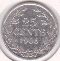 Liberia, 25 Cents 1906. Argent .KM# 8 - Liberia