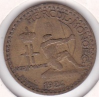 MONACO .BON POUR 1 FRANC 1924 POISSY .LOUIS II .Bronze-aluminium - Mónaco