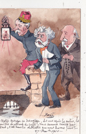 CPA Peinte à La Main Caricature Satirique Général ANDRE / PELLETAN / COMBES Politique Illustrateur BOBB (2 Scans) - Satiriques