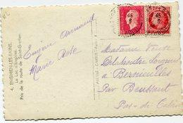 FRANCE CARTE POSTALE  DEPART ENGHIEN-LES-BAINS 10-6-46 POUR LA FRANCE - 1944-45 Maríanne De Dulac