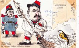 CPA Peinte à La Main Caricature Satirique Politique COMBES / BERTEAUX L' Arc En Ciel N° 15 Illustrateur MILLE (2 Scans) - Satiriques