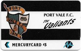 UK (Paytelco) - Football Clubs - Port Vale Logo - 4PFLU, 1.900ex, Used - Ver. Königreich
