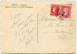 FRANCE CARTE POSTALE  DEPART AMIENS 21-6-46 SOMME POUR LA FRANCE - 1944-45 Maríanne De Dulac