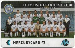 UK (Paytelco) - Football Clubs - Leeds United Team Photo - 4PFLC, 5.499ex, Used - [ 4] Mercury Communications & Paytelco