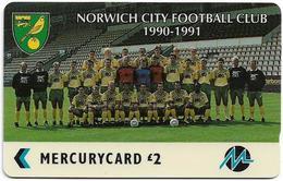 UK (Paytelco) - Football Clubs - Norwich City Team Photo - 2PFLC, 12.948ex, Used - [ 4] Mercury Communications & Paytelco