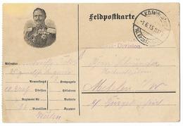 Feldpostkarte  - Le Kaiser En Médaillon   - WWI - Guerre 1914-18