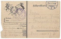 Feldpostkarte  - Drapeaux Allemands   - WWI - Guerre 1914-18