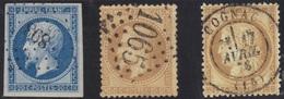 Cognac : Oblitération PC-GC Et Càd 17 Sur N°55 Du 17 Avril 1876 (pas Courant) - Marcophilie (Timbres Détachés)