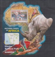 S664. Sierra Leone - MNH - 2016 - Fauna - Wild Animals - Parks Etosha - Bl - Timbres