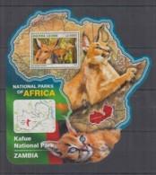 S664. Sierra Leone - MNH - 2016 - Fauna - Wild Animals - Parks Zambia - Bl - Sellos