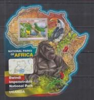 S664. Sierra Leone - MNH - 2016 - Fauna - Wild Animals - Parks Uganda - Bl - Sellos