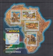 S664. Sierra Leone - MNH - 2016 - Fauna - Wild Animals - Parks Africa - Timbres