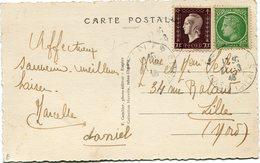 FRANCE CARTE POSTALE  DEPART ? 21-3-46 POUR LA FRANCE - 1944-45 Maríanne De Dulac