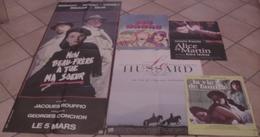 LOT 5 AFFICHES CINEMA FILMS Juliette BINOCHE LES NANAS VIE DE FAMILLE HUSSARD SUR LE TOIT MON BEAU-FRERE A TUE - Posters