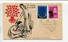 URUGUAY - AÑO MUNDIAL DEL REFUGIADO. AÑO 1960 SOBRE PRIMER DIA ENVELOPE FDC - LILHU - Otros