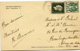 FRANCE CARTE POSTALE  DEPART ? 9-9-46 POUR LA FRANCE - 1944-45 Maríanne De Dulac