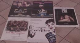 LOT 5 AFFICHES CINEMA FILMS Marie TRINTIGNANT LES MARMOTTES LE COUSIN BETTY NUIT D'ETE EN VILLE COMME ELLE RESPIRE - Posters