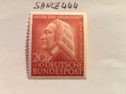Germany Welfare J. C. Senckenberg Physician 1953 Mnh - Unused Stamps