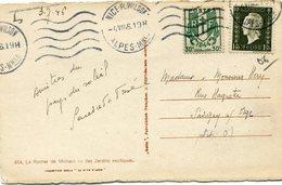 FRANCE CARTE POSTALE  DEPART NICE PL. WILSON 4 VII 46 ALPES Mmes POUR LA FRANCE - 1944-45 Maríanne De Dulac