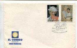URUGUAY - PRINCESA DIANA DE GALES, LADY DI. AÑO 1998 SOBRE PRIMER DIA ENVELOPE FDC - LILHU - Familias Reales