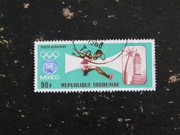 TOGO YT POSTE AERIENNE 87 OBLITERE - JEUX OLYMPIQUES MEXICO ATHLETISME SAUT EN LONGUEUR - Togo (1960-...)